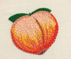 peach, aesthetic, and embroidery image