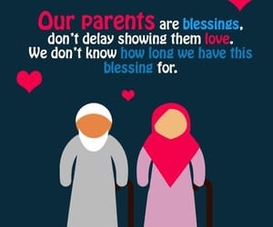allah, parents, and blessing image