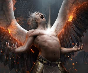 fallen angel, fantasy, and game image