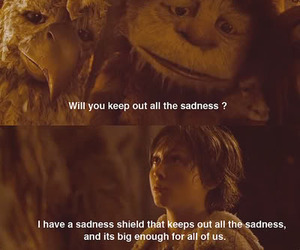 where the wild things are and sadness image