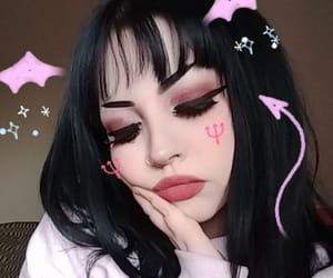 girl, pink, and Devil image