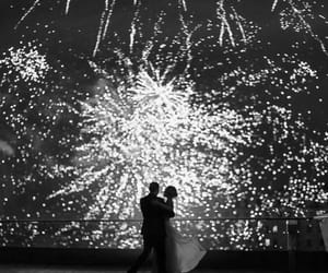 fireworks, couple, and party image