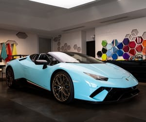 blue, car, and luxury image