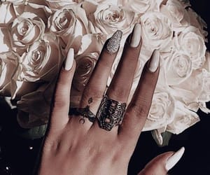 flowers, jewelry, and nails image