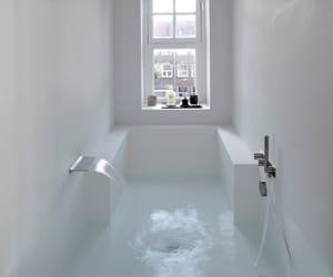 bath, bathroom, and white image