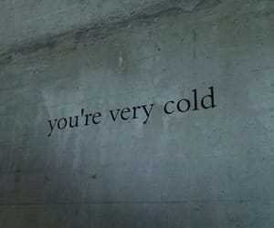 cold, sad, and quotes image