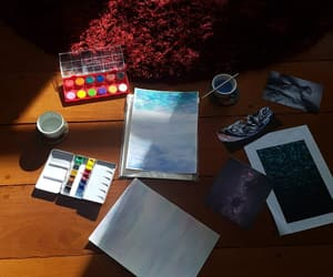 painting, watercolor, and watercolour image