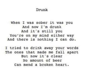broken heart, drunk, and fall apart image