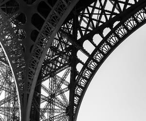 black&white, detail, and eiffel tower image