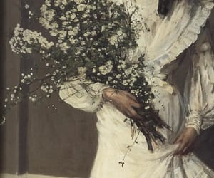 art, flowers, and painting image