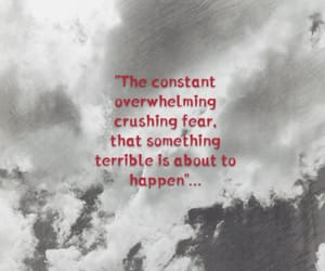 clouds, quote, and red and white image