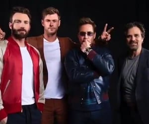 chris evans, mark ruffalo, and rdj image