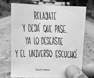 universo, relajate, and deja que pase image