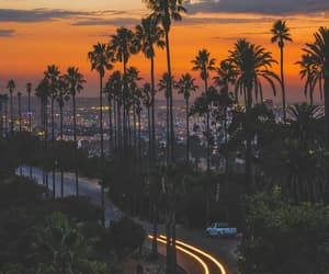 los angeles, city, and night image