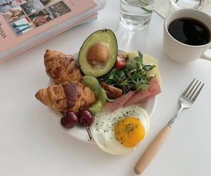 avocado, coffee, and croissants image