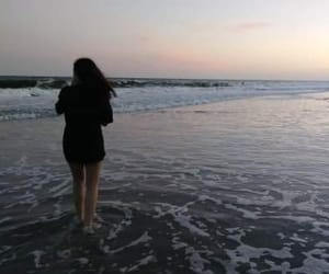 beach, girls, and ocean image