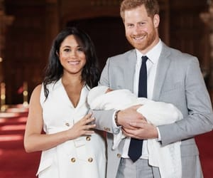 prince harry, meghan markle, and baby image