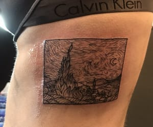 art, Piercings, and starry night image