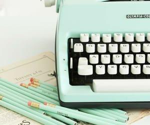 vintage, pencil, and typewriter image