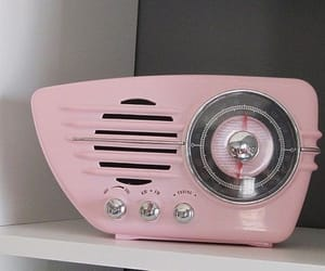 pink, vintage, and radio image