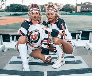cheer, girl, and cheerleader image