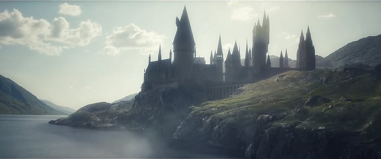 hogwarts, harry potter, and fantastic beasts image
