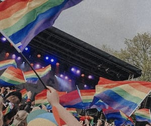 pride, gay, and flag image