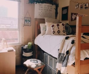 college, dorm, and girl image