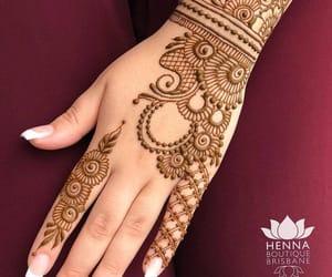henna, henna art, and henna tattoo image