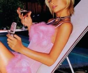 glitter, paris hilton, and pink image