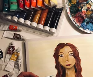 art, girl, and acrylicpaint image
