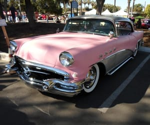 automobiles, pink, and vintage image