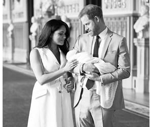 baby boy, black and white, and meghan markle image