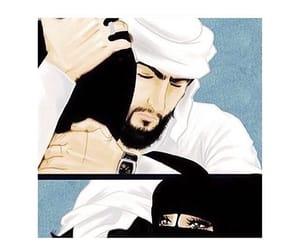 arabia, couple, and hijab image