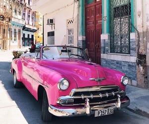 car, pink, and cuba image
