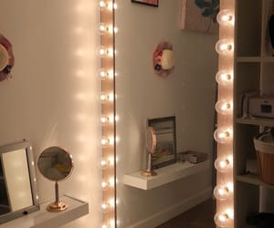 mirror, home, and lights image