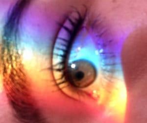 arcoiris, eye, and brown image