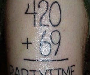 420, tattos, and weed image