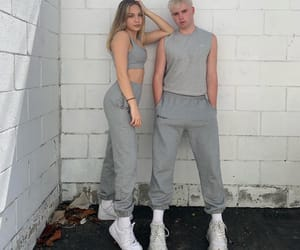 aesthetic, gray, and outfit image