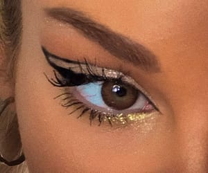 makeup, aesthetic, and lashes image
