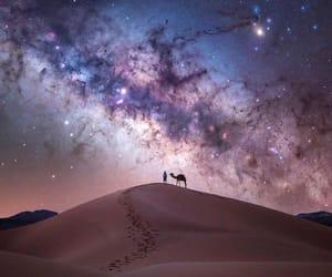 beauty, galaxy, and night image