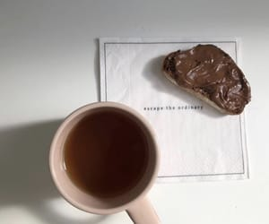 bread, breakfast, and cup image