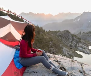 adventure, outside, and tent image