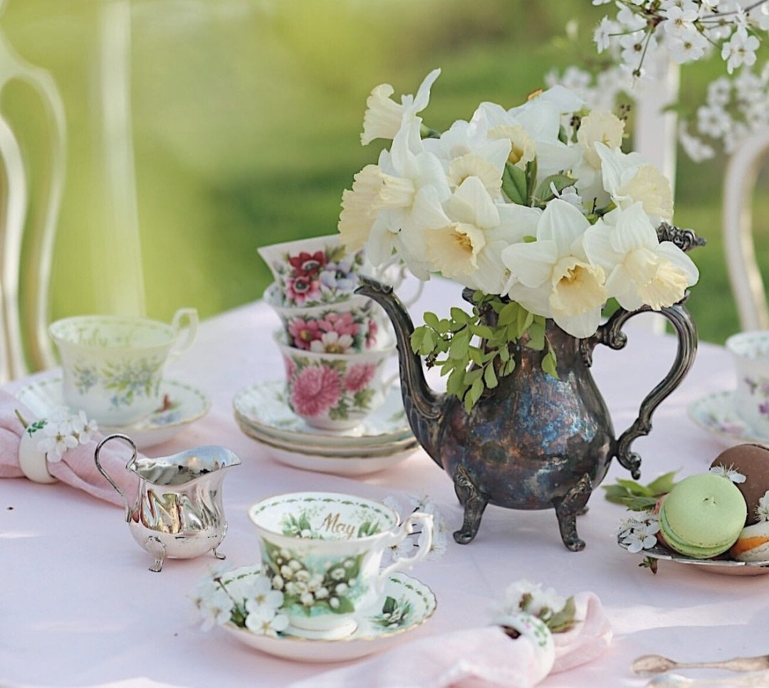 cup, seasons, and spring flowers image