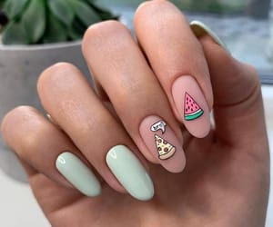 watermelon, cute, and nail image