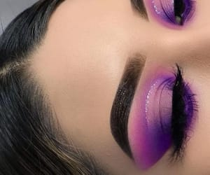 color, eyebrows, and eyelashes image