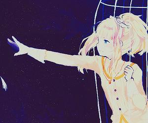 anime, sad, and cage image