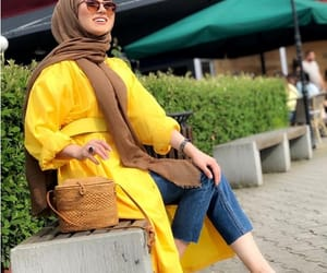yellow hijab looks image