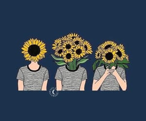 wallpaper, flowers, and sunflower image