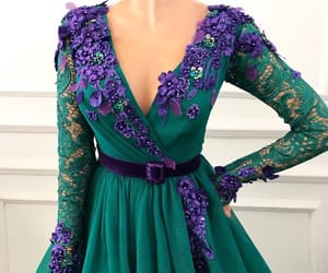 dress, green, and purple image